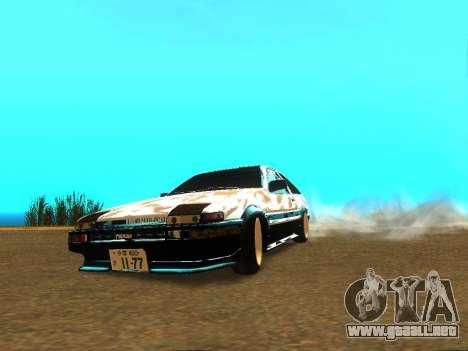 Toyota Corolla AE86 Trueno JDM para la visión correcta GTA San Andreas
