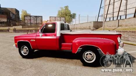 GMC 454 Pick-Up Up para GTA 4 left