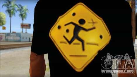 Running With Scissors T-Shirt para GTA San Andreas tercera pantalla