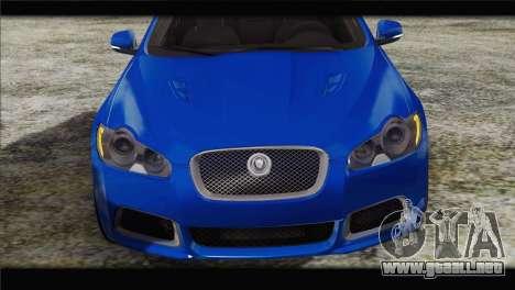 Jaguar XFR v1.0 2011 para GTA San Andreas vista hacia atrás