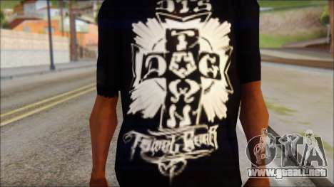 Tribal DOG Town T-Shirt Black para GTA San Andreas tercera pantalla