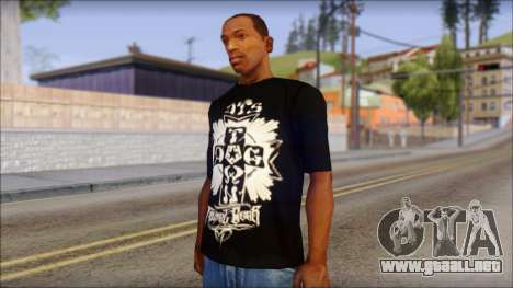 Tribal DOG Town T-Shirt Black para GTA San Andreas