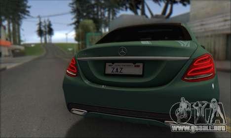 Mercedes-Benz C250 V1.0 2014 para visión interna GTA San Andreas