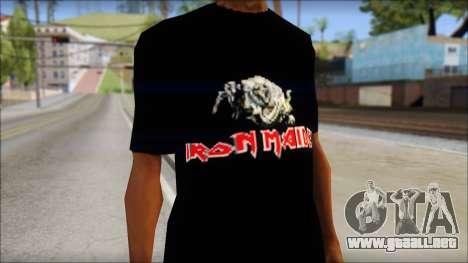Iron Maiden T-Shirt para GTA San Andreas tercera pantalla