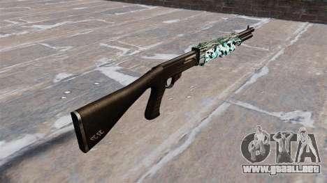 Ружье Franchi SPAS-12 Aqua Camo para GTA 4 segundos de pantalla