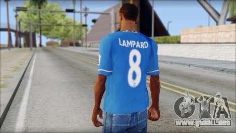 Chelsea FC 12-13 Home Jersey para GTA San Andreas segunda pantalla