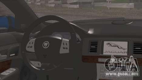 Jaguar XFR v1.0 2011 para la visión correcta GTA San Andreas