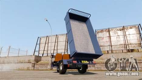 Agrícola triciclo para GTA 4 vista hacia atrás