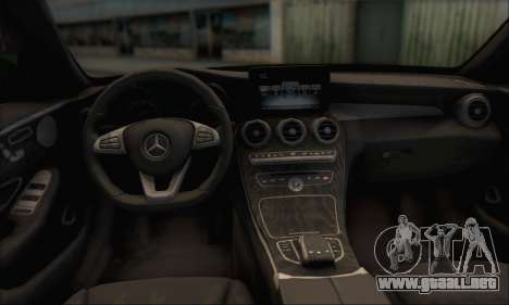 Mercedes-Benz C250 V1.0 2014 para la vista superior GTA San Andreas