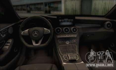 Mercedes-Benz C250 V1.0 2014 para la vista superior GTA San Andreas