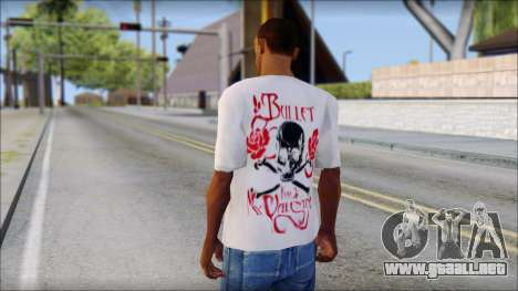 Bullet For My Valentine White Fan T-Shirt para GTA San Andreas segunda pantalla