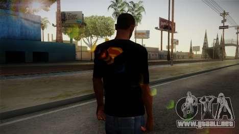 Man of Steel T-Shirt para GTA San Andreas segunda pantalla