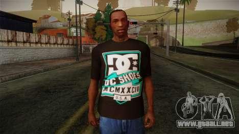 DC Shoes USA T-Shirt para GTA San Andreas
