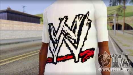 WWE Logo T-Shirt mod v1 para GTA San Andreas tercera pantalla
