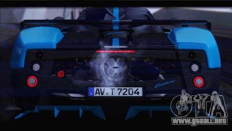 Pagani Zonda UNO para visión interna GTA San Andreas