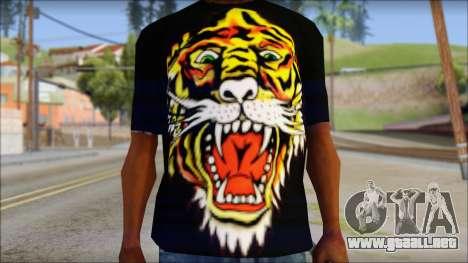 Ed Hardy Lion T-Shirt para GTA San Andreas tercera pantalla