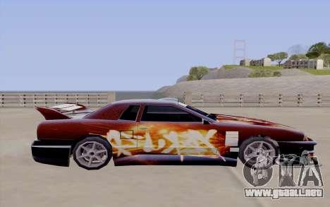 Trabajos de pintura para Yakuza Elegía para GTA San Andreas vista hacia atrás