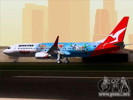 Boeing 737-800 Qantas para visión interna GTA San Andreas