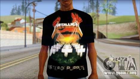 Metallica Master Of Puppets T-Shirt para GTA San Andreas tercera pantalla