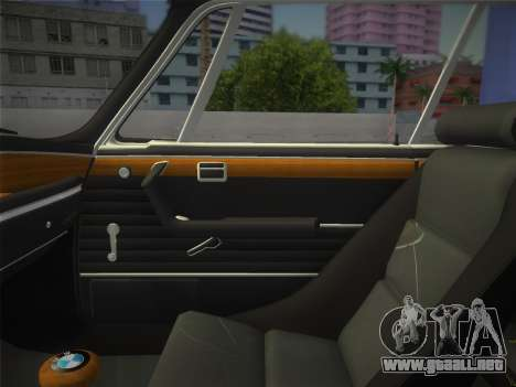 BMW 3.0 CSL 1971 para GTA Vice City vista posterior