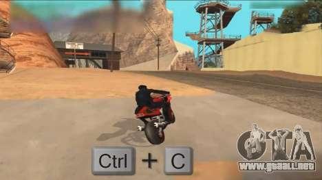 Car Hack para GTA San Andreas segunda pantalla