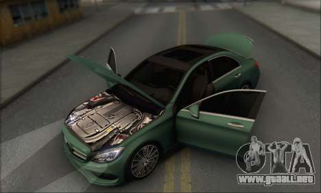 Mercedes-Benz C250 V1.0 2014 para vista inferior GTA San Andreas