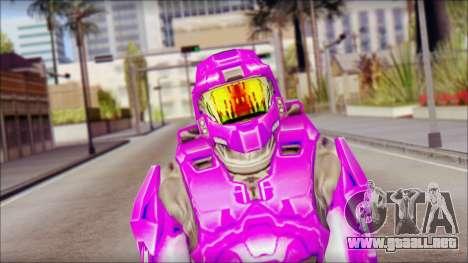 Masterchief Purple from Halo para GTA San Andreas tercera pantalla