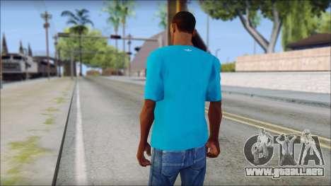 Blue Adidas Shirt para GTA San Andreas segunda pantalla