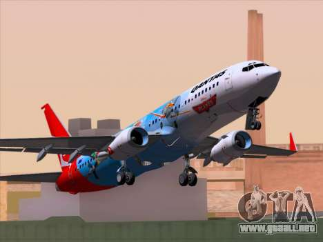 Boeing 737-800 Qantas para GTA San Andreas vista hacia atrás