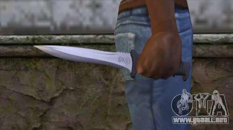 Knife from Resident Evil 6 v2 para GTA San Andreas tercera pantalla