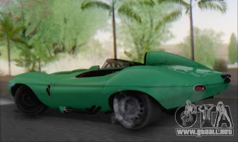 Jaguar D Type 1956 para GTA San Andreas left