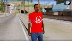 T-Shirt Adidas Red para GTA San Andreas