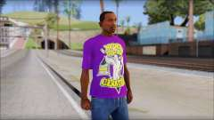 John Cena Purple T-Shirt para GTA San Andreas