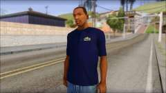 Blue Izod Lacoste Polo Shirt para GTA San Andreas