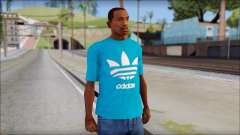 Blue Adidas Shirt para GTA San Andreas
