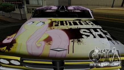 Trabajos de pintura para Slamvan MLP Fluttershy para GTA San Andreas