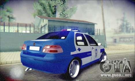 Fiat Albea Police Turkish para la visión correcta GTA San Andreas