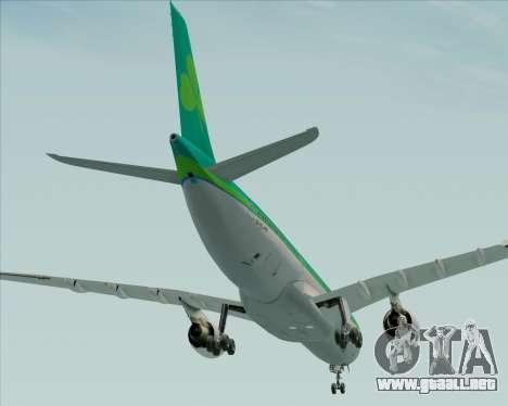 Airbus A330-300 Aer Lingus para vista inferior GTA San Andreas