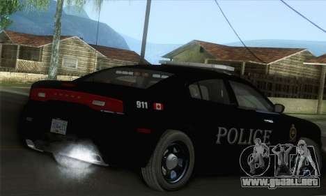 Dodge Charger ViPD 2012 para GTA San Andreas left