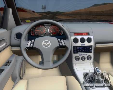 Mazda 323F 1995 para vista lateral GTA San Andreas