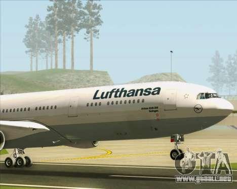 Airbus A340-313 Lufthansa para la vista superior GTA San Andreas