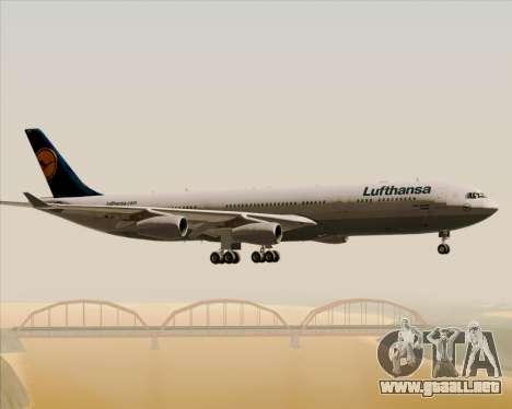Airbus A340-313 Lufthansa para vista inferior GTA San Andreas
