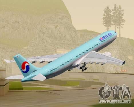 Airbus A330-300 Korean Air para las ruedas de GTA San Andreas