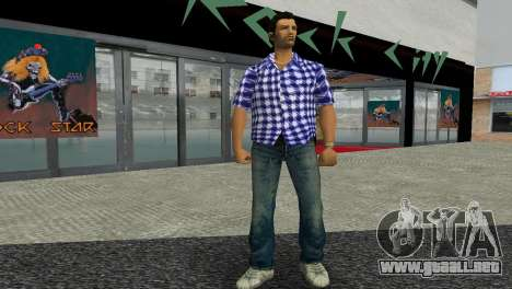 Kockas polo - sotetkek T-Shirt para GTA Vice City segunda pantalla