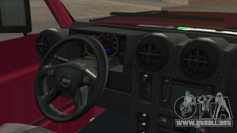 Nissan Patrol 2 Door para GTA San Andreas vista posterior izquierda