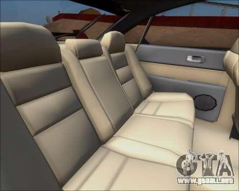 Mazda 323F 1995 para visión interna GTA San Andreas