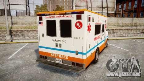 GTA V Brute Ambulance [ELS] para GTA 4 Vista posterior izquierda