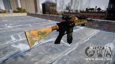 Automatic rifle Colt M4A1 de la selva para GTA 4 segundos de pantalla