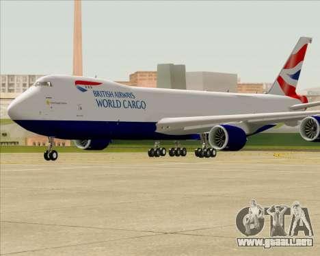 Boeing 747-8 Cargo British Airways World Cargo para visión interna GTA San Andreas