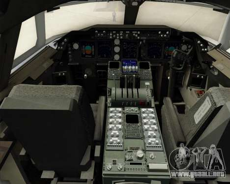 Boeing 747-8 Cargo Nippon Cargo Airlines para GTA San Andreas interior